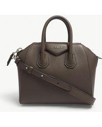 eff3f3ad202f Givenchy - Heather Grey Antigona Mini Leather Tote Bag - Lyst
