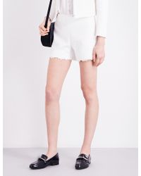 Claudie Pierlot | Emilia Lace-trimmed Tweed Shorts | Lyst