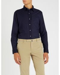Polo Ralph Lauren - Geometric-print Cotton-poplin Shirt - Lyst