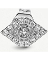 The Alkemistry - Sydney Evan 14ct White-gold And Diamond Earring - Lyst