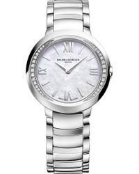 Baume & Mercier - M0a10160 Promesse Stainless Steel And Diamond Watch - Lyst