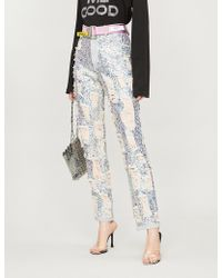 Ashish - Ripped High-rise Straight Jeans - Lyst