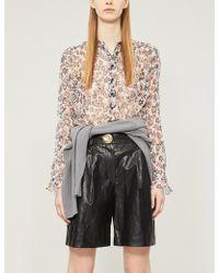 48e662f44c571a Rag   Bone - Susan Silk Long-sleeve Floral Blouse - Lyst