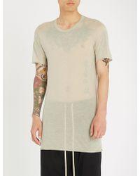 Rick Owens - Longline Stretch-jersey T-shirt - Lyst