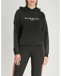 Givenchy - Distressed Cotton-jersey Hoody - Lyst