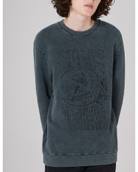 TOPMAN - X James Bay Embroidered Cotton-jersey Sweatshirt - Lyst