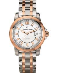 Carl F. Bucherer - 00.10915.07.13.21 Manero Autodate Stainless Steel Rose-gold Sapphire Crystal Watch - Lyst