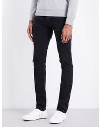 Sandro - Distressed Mid-rise Slim-fit Jeans - Lyst