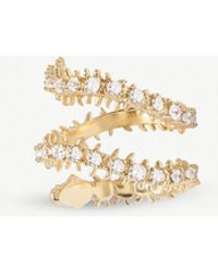 Kendra Scott - Beck 14ct Gold-plated Brass And Crystal Ring - Lyst