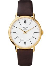 Links of London - 6010.2213 Noble Gold-plated Stainless Steel And Leather Watch - Lyst