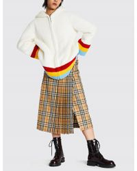 Burberry - Craven Rainbow Striped Faux-shearling Jacket - Lyst