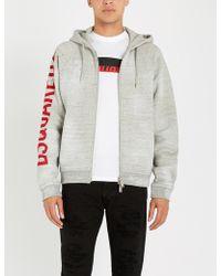 DSquared² - Logo-print Cotton-jersey Hoody - Lyst
