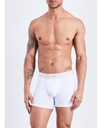Versace - Iconic Low-rise Stretch-cotton Trunks - Lyst