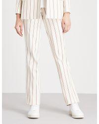 Ba&sh - Farah Linen-and-cotton Trousers - Lyst