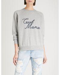 GOOD AMERICAN - Good Mama Cotton-jersey Sweatshirt - Lyst