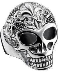 Thomas Sabo   Rebel At Heart Sterling Silver Skull Ring   Lyst