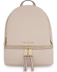 a1ee01e235ae Lyst - Michael Michael Kors Rhea Medium Leather Backpack in Red