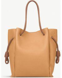 Loewe - Flamenco Knot Leather Shoulder Bag - Lyst