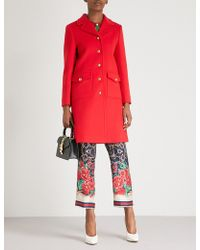 Gucci - Belted Wool Coat - Lyst