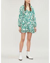 Free People - Rebecca Ruffled Mini Dress - Lyst