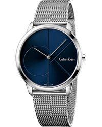 CALVIN KLEIN 205W39NYC - K3m2112n Stainless Steel Watch - Lyst