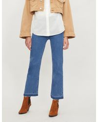 Apiece Apart - Marston Raw-hem Flared Jeans - Lyst