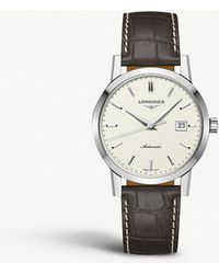 617d6eb02633 Longines - L4.825.4.92.2 Heritage Conquest Stainless Steel And  Alligator-leather Watch