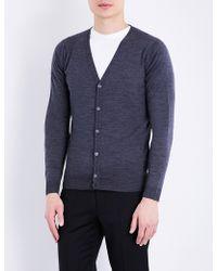 John Smedley - Petworth V-neck Merino Wool Cardigan - Lyst
