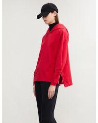 Closed - X Girbaud Split-sleeve Cotton-jersey Hoody - Lyst