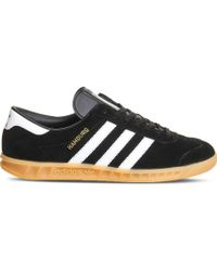 adidas originals hamburg tech trainers in black s79993