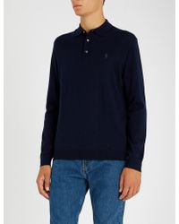 Polo Ralph Lauren - Logo-embroidery Merino Wool Knitted Polo Shirt - Lyst