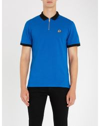 The Kooples - Short-sleeved Cotton-piqué Polo Shirt - Lyst