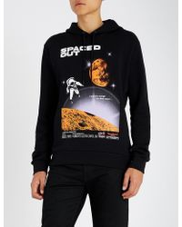 KENZO - Spaced Out Printed Cotton-jersey Hoody - Lyst