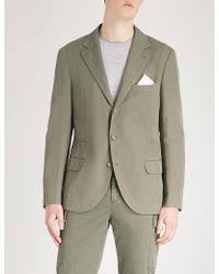 Brunello Cucinelli - Relaxed Tailored-fit Herringbone Cotton And Linen-blend Jacket - Lyst