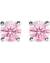 Thomas Sabo - Glam And Soul Pink Stone Large Sterling Silver Earrings - Lyst