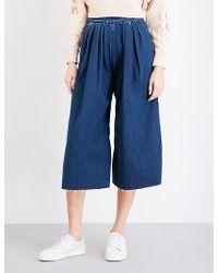 Miharayasuhiro - Raw-hem Wide High-rise Jeans - Lyst
