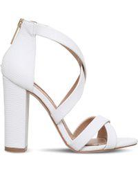 Miss Kg - Faun Reptile-effect Sandals - Lyst