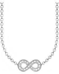 Thomas Sabo - Glam & Soul Infinity Diamond Necklace - Lyst