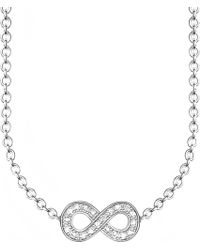 Thomas Sabo - Glam & Soul Infinity Diamond Necklace - Lyst