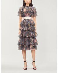 Needle & Thread - Venetian Rose Tulle Dress - Lyst