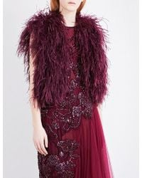 Elie Saab - Fluffy Feather Gilet - Lyst