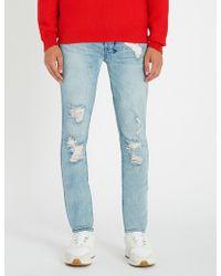 Ksubi - Van Winkle Thrashed Dreams Slim-fit Distressed Stretch-denim Jeans - Lyst