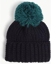 Sandro - Large Pom Pom Knitted Beanie - Lyst