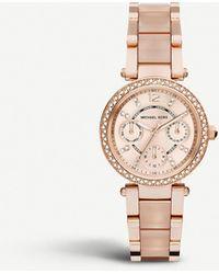 5da1ebb5e12f Michael Kors Parker Watch - Rose Gold Lavender in Pink - Lyst