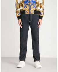 Versace - Gold Stitch Finn-fit Tapered Jeans - Lyst