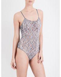 Only Hearts - Python Stretch-mesh Bodysuit - Lyst