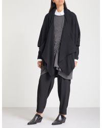 Y's Yohji Yamamoto - Waterfall Knitted Cardigan - Lyst