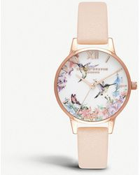 Olivia Burton - Ob16pp20 Painterly Prints Rose Gold-plated Watch - Lyst