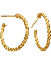Astley Clarke - Medium Spiga 18ct Yellow Gold-plated Hoop Earrings - Lyst