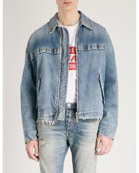 Unravel | Stonewashed Rigid Workman Denim Jacket | Lyst